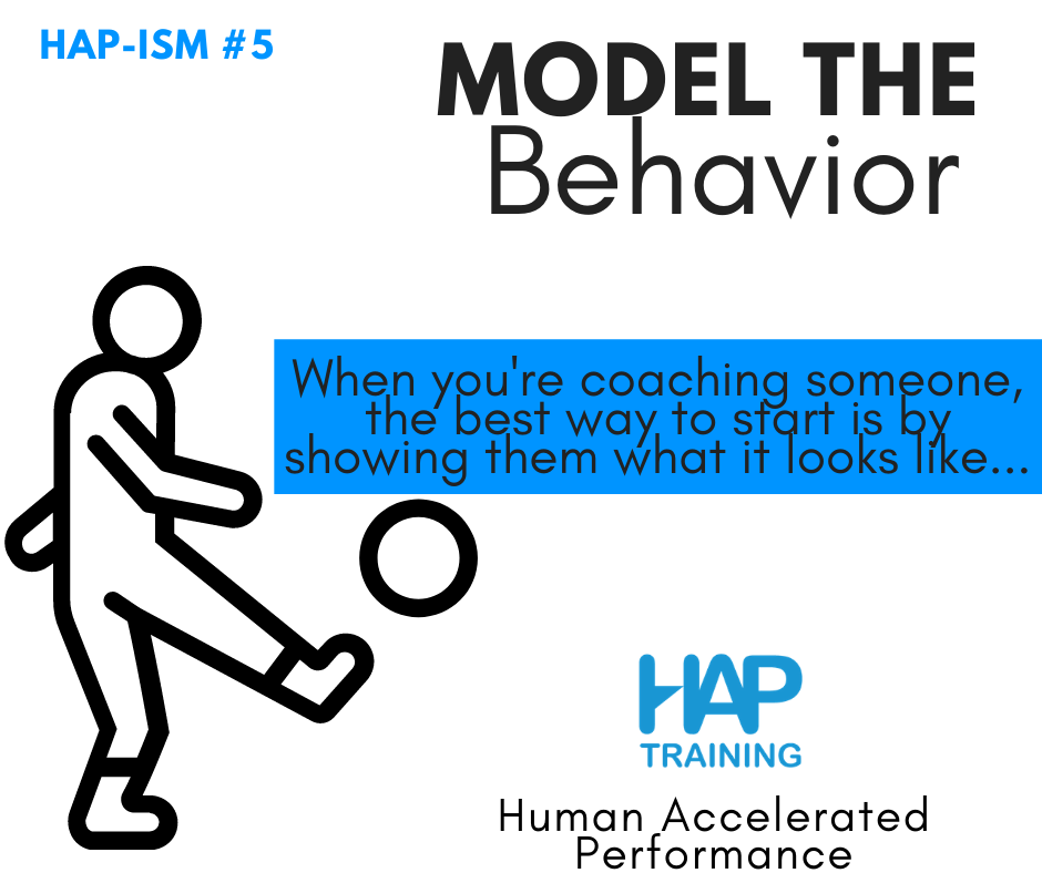 The 3 Foundations of Intentional Practice: 1. Model the Behavior